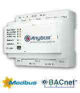 Anybus Modbus to BACnet gateway - 600 datapoints