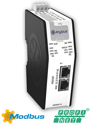 Anybus X-gateway Ethernet Modbus-TCP Master-PROFINET IO 2-Port Slave