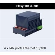 Flexy 201H - Gateway, Router, VPN, 4x10/100Mb ETH, 2xDI, 1xDO, SD karta