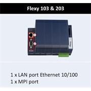 Flexy 203 - Gateway, Router, VPN, 1x10/100Mb ETH, 1 x Profibus/MPI Port - S7, 2xDI, 1xDO, SD karta