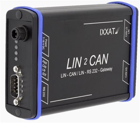 LIN2CAN Gateway Automotive - 1x CAN ISO 11898-2 (HS), 1xCAN ISO 11898-3 (LS), 1x LIN, 1x RS232, 7-16 V DC, 1.5 W