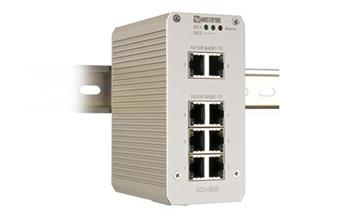 Switch 10/100 Mbit/s, 8x TX, –34 to +70°C, 10–48 VDC
